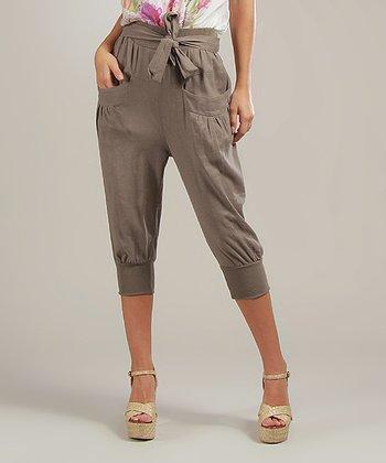 Mole Laura Linen-Blend Capri Pants