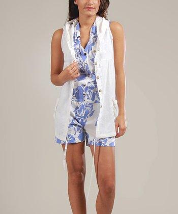 White Aurélie Hooded Tunic