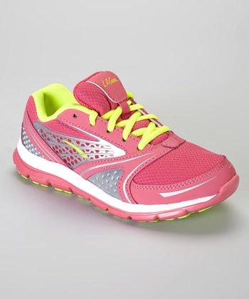 LA Gear Pink & Lime Rocket Sneaker