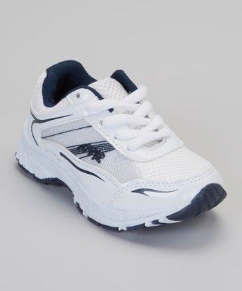 White & Navy Air Sneaker