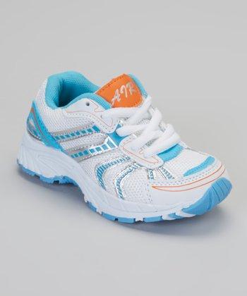 Silver & Blue Air Sneaker