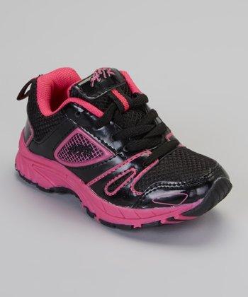 Black & Pink Patent Air Sneaker