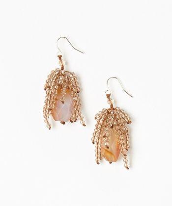 Carnelian & Crystal Earrings