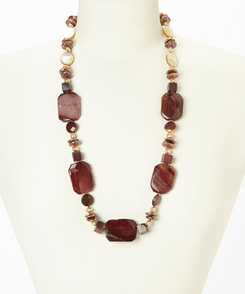 Jasper & Mother of Pearl Necklace