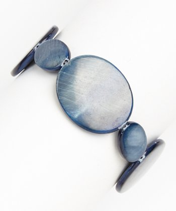 Blue Mother of Pearl Stretch Bracelet