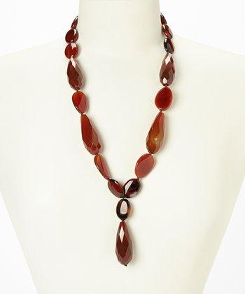 Carnelian Jumbo Drop Necklace