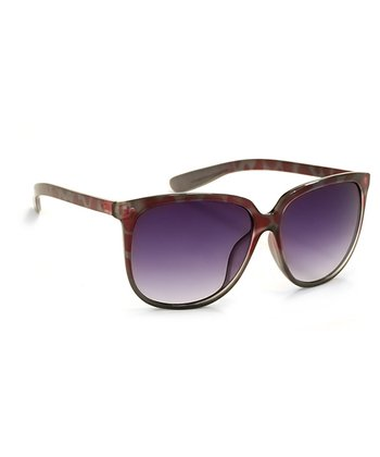 A.J. Morgan Burgundy & Gray Mona Cat-Eye Sunglasses