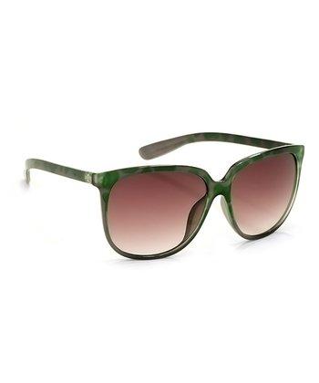 A.J. Morgan Green & Gray Mona Cat-Eye Sunglasses