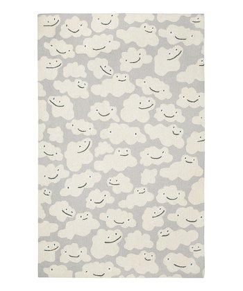 Gray Cloud People Wool Rug
