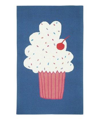 Blueberry Cupcake Wool Rug
