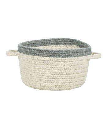 Cream & Ash Gray Hableland Utility Basket