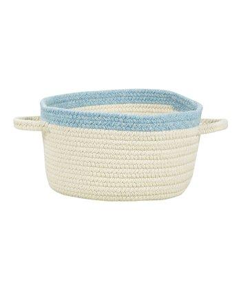 Cream & Blue Bell Hableland Utility Basket