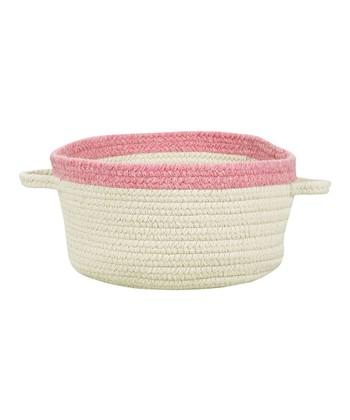 Cream & Bubble Gum Hableland Utility Basket