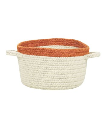 Cream & Pumpkin Pie Hableland Utility Basket