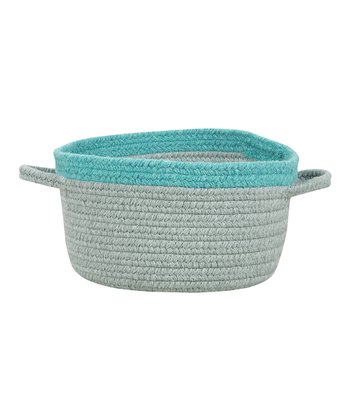 Light Gray & Baltic Blue Hableland Utility Basket
