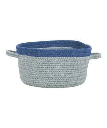 Light Gray & Blueberry Hableland Utility Basket