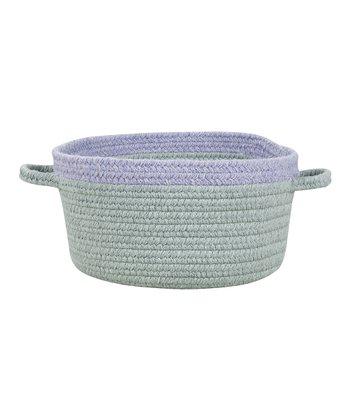 Light Gray & Chalk Violet Hableland Utility Basket