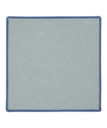 Light Gray & Blueberry Square Hableland Wool-Blend Rug