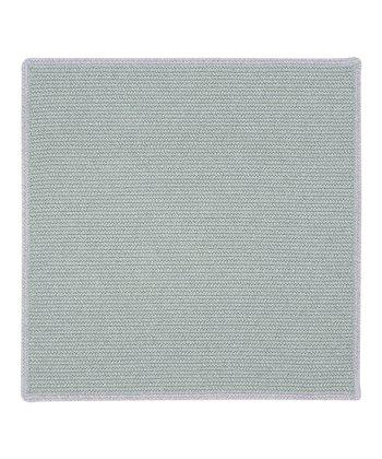 Light Gray & Iris Square Hableland Wool-Blend Rug