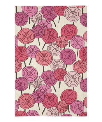 Pink Lollipop Wool Rug
