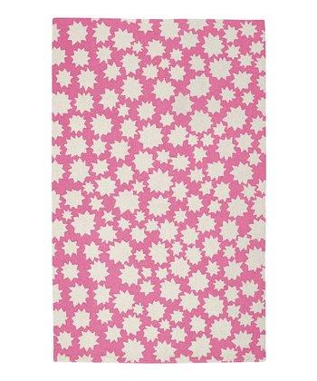 Bubblegum Star Wool Rug