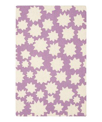 Violet Star Wool Rug