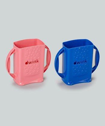 Blue & Pink Dwink Juice Box Holder Set