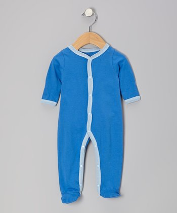 Pacific Blue Organic Footie - Infant