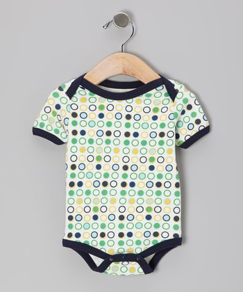 Green Polka Dot Organic Bodysuit - Infant