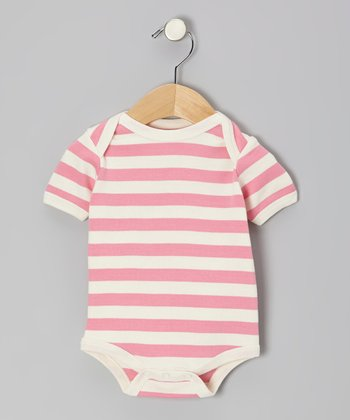 Pink Stripe Organic Bodysuit - Infant