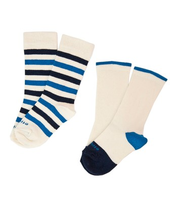 Estate Blue Happy Stripe Socks Set