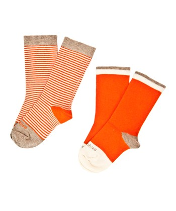 Orange Peel Sailor Stripe Socks Set