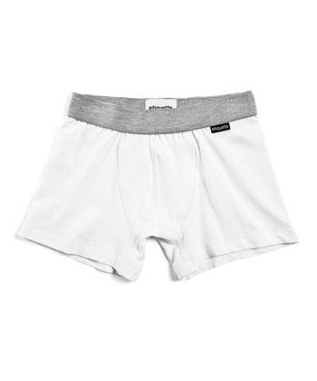Optic White Organic Boxer Briefs - Boys