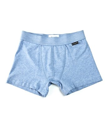 Sky Blue Organic Boxer Briefs - Boys