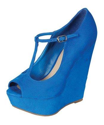 Blue Cece Wedge