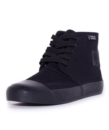 BANGS Black Classic Hi-Top Sneaker