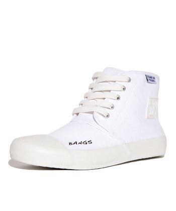 BANGS White Classic Hi-Top Sneaker