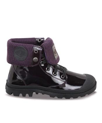 Palladium Midnight & Purple Baggy Leather Fold-Over Boot