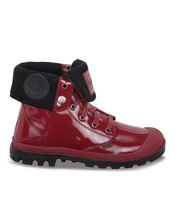Palladium Cordovan & Black Leather Fold-Over Boot