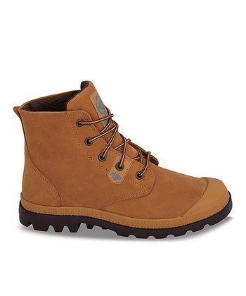 Palladium Amber & Gold Pampa Leather Boot