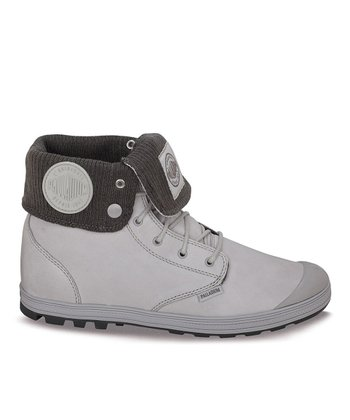 Palladium Vapor & Metal Slim Baggy Leather Fold-Over Boot