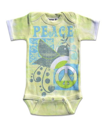 Lime 'Peace' Bodysuit - Infant