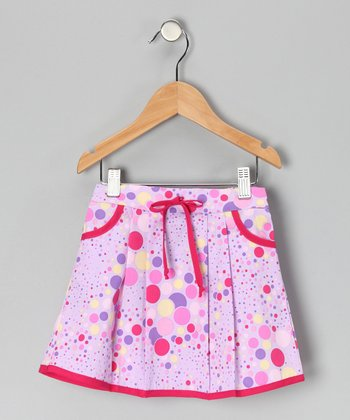 Fuchsia & Purple Polka Dot Skirt - Toddler & Girls