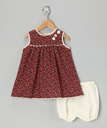 Red Strawberry Dress & Bloomers - Infant & Toddler