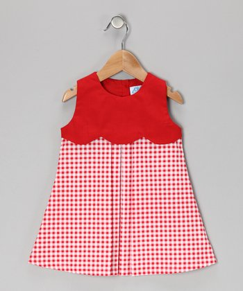 Red Gingham Dress - Infant, Toddler & Girls