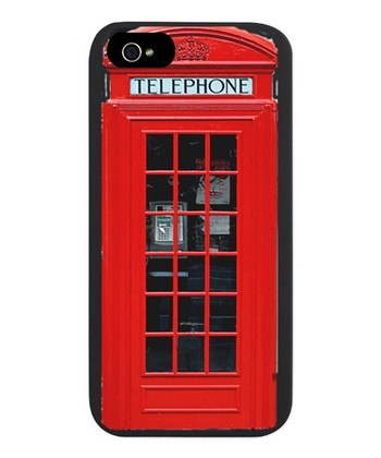 Black & Red British Case for iPhone 5/5s