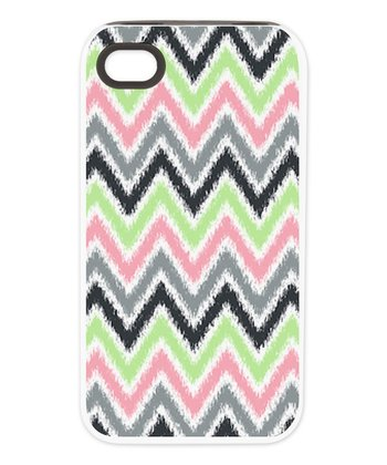 Pink & Green Zigzag Tough Case for iPhone 4/4s