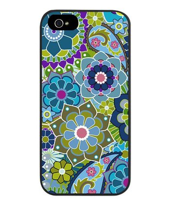 Blue & Green Floral Case for iPhone 5/5s