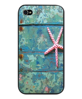 Turquoise Starfish Case for iPhone 4/4s