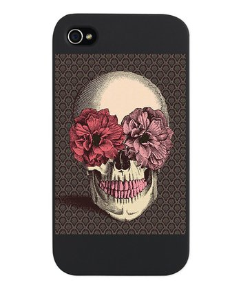 Gothic Pink Floral Skull Snap Case for iPhone 4/4s